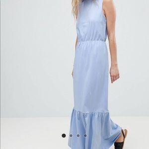 ASOS // Peplum Hem Sleeveless Maxi Dress